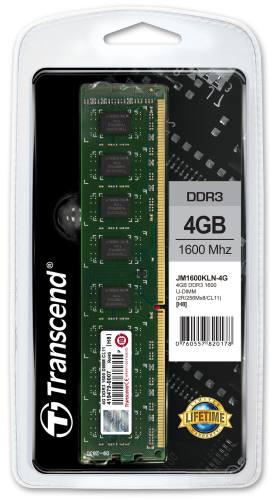 Transcend paměť 4GB DDR3 1600 Mhz CL11 doživotní záruka