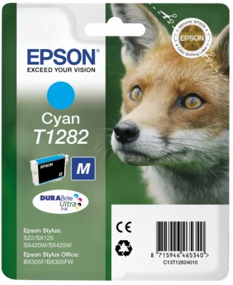 EPSON cartridge T1282 cyan (liška)
