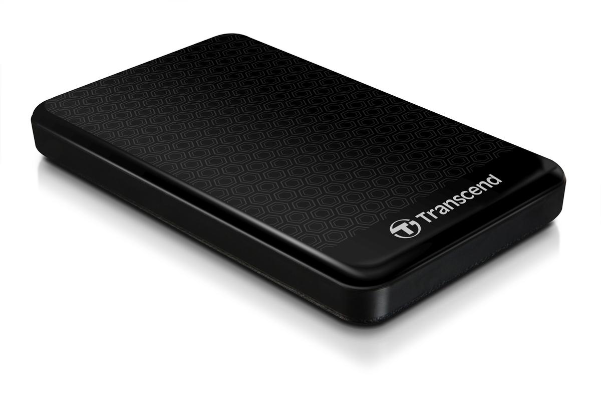 """TRANSCEND 500GB StoreJet 25A3, USB 3.0, 2.5"""" Stylový externí odolný hard disk, černý se vzorem"""