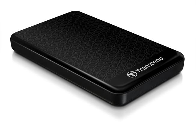 """TRANSCEND 1TB StoreJet 25A3, USB 3.0, 2.5"""" Stylový externí odolný hard disk, černý se vzorem"""