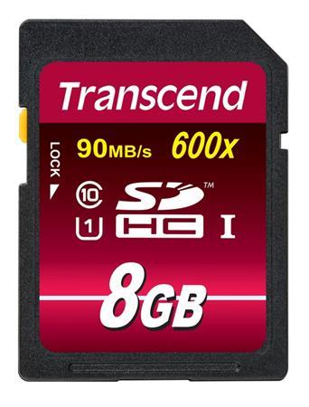 Transcend 8GB SDHC (Class 10) UHS-I 600x (Ultimate) MLC paměťová karta