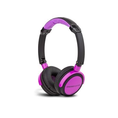 ENERGY DJ 400 Black Violet, circumaurální Sluchátka vysoký stupeň odhlučnění,108dB, Deep Bass,3.5 mm