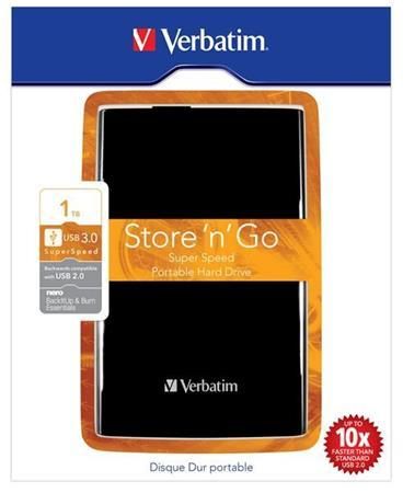 "Akce!!! VERBATIM HDD 2.5"" 1TB Store 'n' Go USB 3.0 Black"