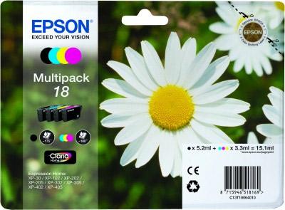 EPSON cartridge T1806 (black/cyan/magenta/yellow) multipack (sedmikráska)