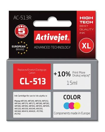 ActiveJet ink cartr. Canon CL-513 ref. - 15 ml - AC-513R