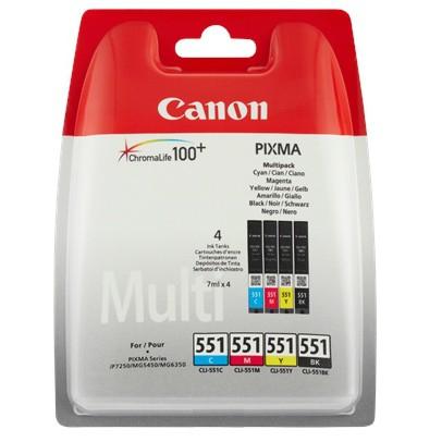 Canon cartridge CLI-551 C/M/Y/BK Multi Pack (CLI551CMYK)