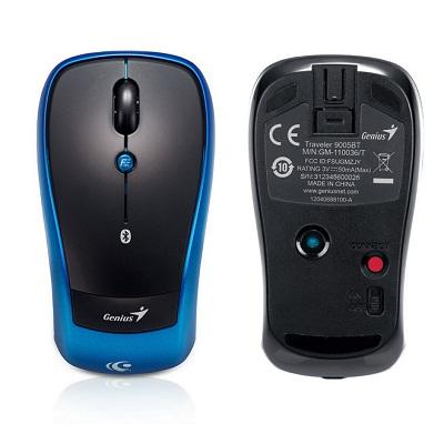 Genius Traveler 9005BT/ bluetooth/ 1200 dpi/ bezdrátová/ černomodrá
