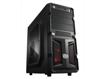 CoolerMaster case miditower K350, ATX, black, USB3.0, průhl. bok, bez zdroje