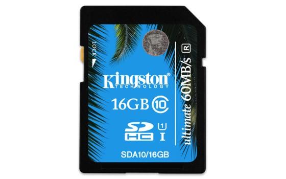 KINGSTON 16GB SDXC Class 10 UHS-I 90MB/s R, 45MB/s W Flash Card