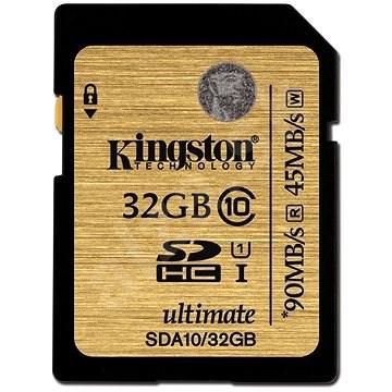 KINGSTON 32GB SDXC Class 10 UHS-I 90MB/s R, 45MB/s W Flash Card