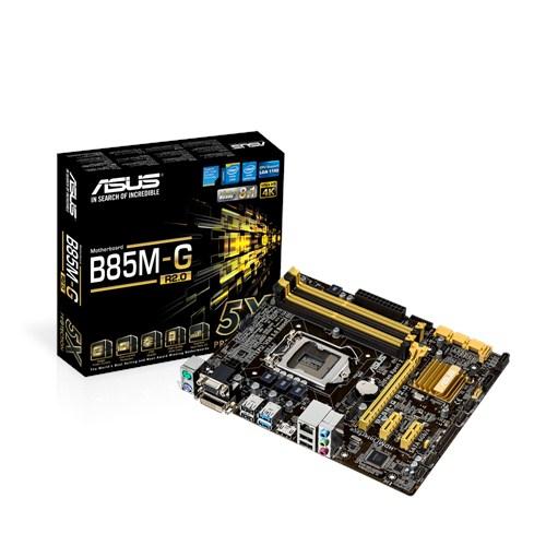 ASUS B85M-G rev2, 1150, B85, 4xDDR3, VGA-out, 1xPCIe16, GL, 8CH, USB3.0, mATX