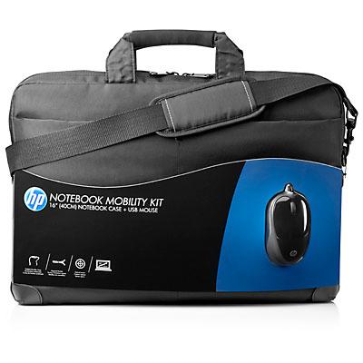 """HP 16"""" Brašna na notebook přes rameno + optická myš Mobility Kit černá"""