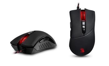 A4tech BLOODY V3 herní myš, až 3200DPI, V-Track technologie, 160KB paměť, USB, CORE 2, kovové podložky