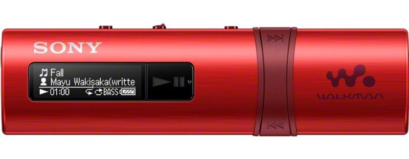 SONY NWZ-B183 – Přehrávač WALKMAN® s portem USB, 4GB RED