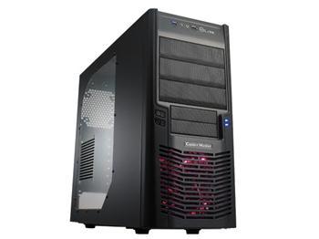 CoolerMaster case miditower Elite 430,ATX,black edition,bez zdroje, USB3.0, průhl. bočnice
