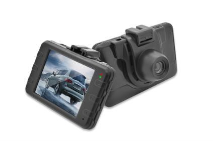Ednet - palubní kamera do auta, HD 720p, 3 MP, 2,4 palcový TFT displej, barva černá