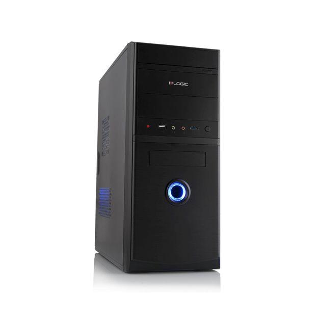 Modecom PC skříň LOGIC A10 MIDI, 1x USB 3.0, 1x USB 2.0 + audio, černá, bez zdroje