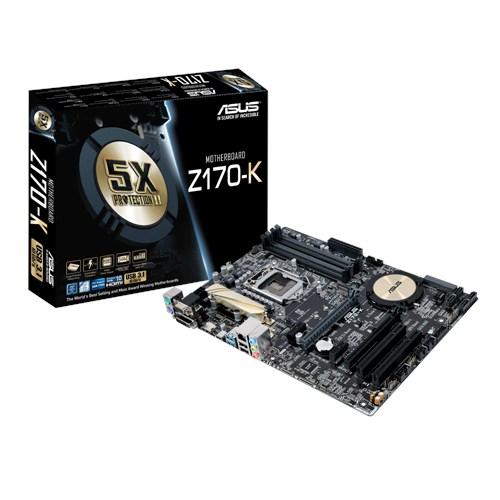 ASUS Z170-K, s.1151, Z170, 4xDDR4, PCIe 3.0x16, SATAIII, M.2, HDMI/DVI-D, GLAN, USB3.1, ATX