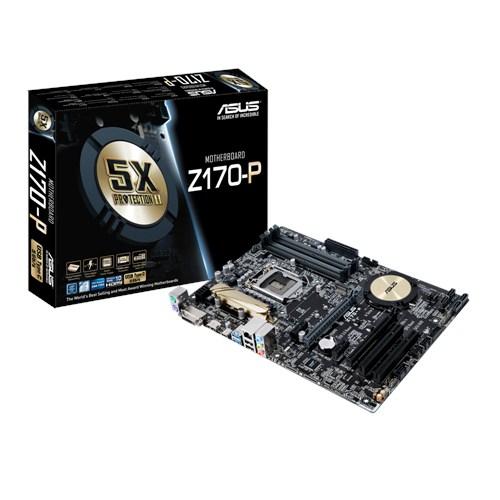 ASUS Z170-P, s.1151, Z170, 4xDDR4, PCIe 3.0x16, SATAIII, M.2, HDMI/DVI-D, GLAN, USB3.0/USB-C, ATX