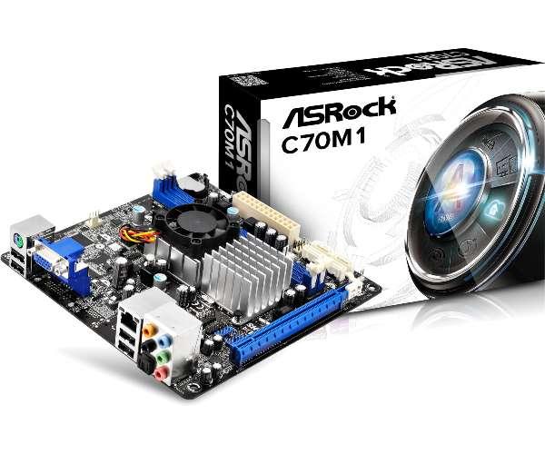 ASRock C70M1, CPU AMD C-70, 2xDDR3, VGA, SATA3/6G, 7.1, GLAN, mini-ITX