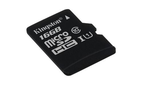 KINGSTON 16GB microSDHC Memory Card 45MB/10MBs- UHS-I class 10 Gen 2 - BEZ ADAPTÉRU