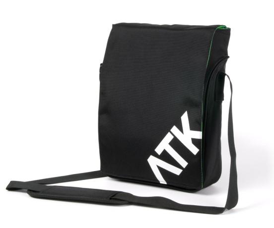 """Attack S-cool Green 11,6 """" - stylová brašna nejen pro NTB, černá (uvnitř zelená)"""